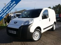 USED 2010 60 PEUGEOT BIPPER 1.4 HDI S 1d 68 BHP 12 MONTHS MOT+3 MONTHS WARRANTY+SERVICE COMPLETED
