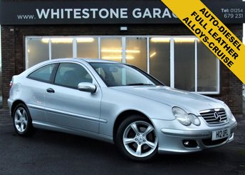 2006 MERCEDES-BENZ C CLASS 2.1 C200 CDI SE SPORTS 3d AUTO 121 BHP £3500.00
