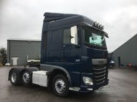 USED 2014 64 DAF TRUCKS XF 12.9 510 FTG 6X2 TRACTOR UNIT (SPACE CAB) LIFT MID AXLE, 510 BHP