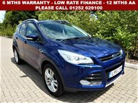 USED 2015 15 FORD KUGA TITANIUM X AUTOMATIC 5 DOOR (180) All retail cars sold are fully prepared and include - Oil & filter service, 6 months warranty, minimum 6 months Mot, 12 months AA breakdown cover, HPI vehicle check assuring you that your new vehicle will have no registered accident claims reported, or any outstanding finance, Government VOSA Mot mileage check.     Because we are an AA approved dealer, all our vehicles come with free AA breakdown cover and a free AA history check. Low rate finance available. Up to 3 years warranty available.