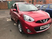 USED 2015 65 NISSAN MICRA 1.2 ACENTA 5d 79 BHP FULL NISSAN SERVICE HISTORY AND ONLY 9321 MILES! CHEAP TO RUN , LOW CO2 EMISSIONS, £30 ROAD TAX AND EXCELLENT FUEL ECONOMY! EXCELLENT SPEC ALLOY WHEELS, CLIMATE CONTROL, SATELLITE NAVIGATION SYSTEM , PARKING SENSORS