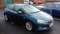 USED 2015 65 VAUXHALL ASTRA 1.4 ELITE 5d 148 BHP TOP SPECIFICATION MODEL WITH ONLY 8706 MILES!.FULL VAUXHALL SERVICE HISTORY!..CHEAP TO RUN, LOW CO2 EMISSIONS, LOW ROAD TAX AND EXCELLENT FUEL ECONOMY! EXCELLENT SPECIFICATION INCLUDING AUXILIARY INPUT, CLIMATE CONTROL, ALLOY WHEELS, HEATED SEATS, LEATHER TRIM, PARKING SENSORS, AND CRUISE CONTROL.