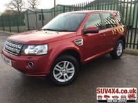 USED 2014 63 LAND ROVER FREELANDER 2 2.2 SD4 XS 5d AUTO 190 BHP SAT NAV LEATHER FSH SATELLITE NAVIGATION. 4WD. STUNNING RED MET WITH FULL BLACK LEATHER TRIM. HEATED SEATS. CRUISE CONTROL. 17 INCH ALLOYS. COLOUR CODED TRIMS. PARKING SENSORS. BLUETOOTH PREP. CLIMATE CONTROL INCLUDING AIR CON. R/CD/MP3 PLAYER. MFSW. MOT 12/19. ONE PREV OWNER. FULL SERVICE HISTORY. SUV & 4X4 CAR CENTRE LS23 7FR. TEL 01937 849492 OPTION 2
