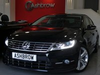 USED 2014 64 VOLKSWAGEN CC 2.0 TDI R LINE DSG BLUEMOTION TECH 4d AUTO 177 S/S FULL VW SERVICE HISTORY, SAT NAV, FULL BLACK LEATHER, HEATED FRONT SEATS, XENON HEADLIGHTS W/ LED DAYTIME RUNNING LIGHTS + LED TAIL LIGHTS, R LINE BODY KIT, 18 INCH TWIN 5 SPOKE ALLOYS, LEATHER FLAT BOTTOM TIPTRONIC MULTI FUNCTION R LINE STEERING WHEEL (PADDLE SHIFT), FRONT & REAR PARKING SENSORS W/ DISPLAY, DCC ADJUSTABLE DAMPENING SUSPENSION, MDI INPUT FOR IPOD/USB DEVICES, PRIVACY GLASS, AUTO LIGHTS + WIPERS, AUTO DIMMING REAR VIEW, DAB, BLUETOOTH PHONE W/ AUDIO STREAMING