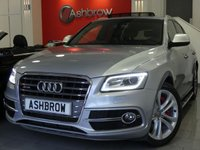 USED 2016 66 AUDI SQ5 3.0 BiTDI QUATTRO 5d AUTO 322 S/S £5635 OF OPTIONAL EXTRAS, UPGRADE OPEN SKY PANORAMIC ROOF, UPGRADE SIDE RUNNING BOARDS (SIDE STEPS), UPGRADE TECHNOLOGY PACK HIGH INCLUDING MMI NAVIGATION PLUS PARKING SYSTEM PLUS (FRONT & REAR) DVD PLAYER AMI & VOICE DIALOGUE SYSTEM, UPGRADE RED BRAKE CALIPERS, UPGRADE DOUBLE GLAZED PRIVACY GLASS, DAB RADIO, BLUETOOTH PHONE & MUSIC STREAMING, WIRELESS LAN, 20 INCH 10 SPOKE ALLOYS, QUAD EXHAUST, FULL BLACK LEATHER, 1 OWNER FROM NEW, FULL SERVICE HISTORY, BALANCE OF AUDI WARRANTY