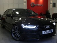 USED 2015 65 AUDI A6 SALOON 2.0 TDI ULTRA S LINE BLACK EDITION 4d AUTO 190 S/S 1 OWNER FROM NEW, FULL SERVICE HISTORY, £30 ROAD TAX (116 G/KM), UPGRADE 20 INCH 5 TWIN SPOKE ALLOYS, SAT NAV, FULL BLACK LEATHER, BOSE SOUND SYSTEM, DAB RADIO, BLUETOOTH PHONE & MUSIC STREAMING, AUDI MUSIC INTERFACE FOR IPOD / USB DEVICES (AMI), FRONT & REAR PARKING SENSORS WITH DISPLAY, LED HEADLIGHTS, PRIVACY GLASS, CRUISE CONTROL, SPORT SEATS WITH ELECTRIC LUMBAR SUPPORT, LIGHT & RAIN SENSORS, LEATHER MULTIFUNCTION TIPTRONIC STEERING WHEEL, 1 OWNER, FULL SERVICE HISTORY, £30 ROAD TAX, VAT Q