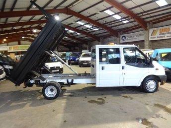 2014 FORD TRANSIT 2.2 350 DRW CREW CAB / DOUBLE CAB TIPPER LWB VAN  £12995.00