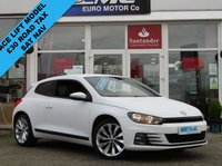 USED 2015 64 VOLKSWAGEN SCIROCCO 2.0 GT TDI BLUEMOTION TECHNOLOGY DSG 2d AUTO 150 BHP STUNNING, 1 OWNER, £30 ROAD TAX, VW SCIROCCO GT BLUEMOTION TECH 2.0 TDI, DSG AUTO (Face Lift). Finished in PURE WHITE with contrasting Leather / Alcantara interior. Features include SAT NAV, B/Tooth, Front and Rear Parking Sensors, DAB, Cruise and much more. JCT VW Bradford Dealer serviced at 20099 miles, 39159 miles, 50019 miles, 70332 miles and at 85585 miles.