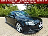 USED 2011 11 AUDI TT TDI QUATTRO S LINE All retail cars sold are fully prepared and include - Oil & filter service, 6 months warranty, minimum 6 months Mot, 12 months AA breakdown cover, HPI vehicle check assuring you that your new vehicle will have no registered accident claims reported, or any outstanding finance, Government VOSA Mot mileage check. Because we are an AA approved dealer, all our vehicles come with free AA breakdown cover and a free AA history check.. Low rate finance available. Up to 3 years warranty available.
