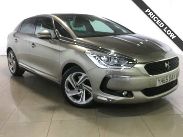 View our 2015 65 DS DS 5 2.0 THP ELEGANCE S/S EAT6 5d AUTO 178 BHP