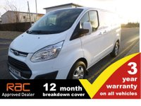 2017 FORD TRANSIT CUSTOM 290 L1 H1 Limited 130ps (Euro6) £14750.00