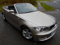 USED 2008 08 BMW 1 SERIES 2.0 120D SE 2d AUTO 175 BHP ** CONVERTIBLE , DIESEL, AUTOMATIC , FULL BLACK HEATED LEATHER  **