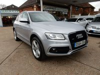 USED 2014 64 AUDI Q5 2.0 TDI QUATTRO S LINE PLUS 5d AUTO 175 BHP ONE OWNER,BLACK PACK,SAT NAV,BANG AND OULFSEN,TWO KEYS