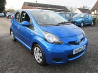 USED 2009 09 TOYOTA AYGO 1.0 BLUE VVT-I 5d 67 BHP £20 ROAD TAX AIRCON CD EXCELLENT MPG