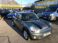 2010 MINI HATCH ONE 1.6 ONE GRAPHITE 3 DOOR 98 BHP IN METALLIC GREY WITH ONLY 56000 MILES IN IMMACULATE CONDITION.  £4799.00
