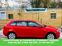 USED 2008 57 AUDI A3 2.0 TDI 5d 138 BHP Clean and tidy example of the much sought after 2.0 TDI, Finished in gleaming bright red,with sporty with contrasting grey two tone cloth,  Audi Chorus CD audio, S line badges and 16 inch multi spoke Alloys, 6 speed manual gear box, electric windows. looks and drives superb.