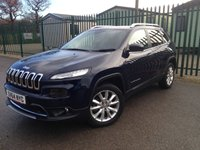 2014 JEEP CHEROKEE 2.0 M-JET LIMITED 5d 138 BHP SAT NAV LEATHER ONE OWNER FH £13990.00