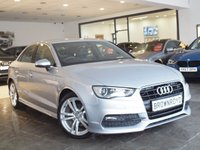 USED 2015 65 AUDI A3 2.0 TDI S LINE 4d 148 BHP ++LTHER+XENONS+FSH++