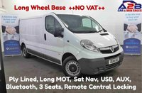 2014 VAUXHALL VIVARO 2.0 CDTI, 115 BHP ++NO VAT++ Long Wheel Base with Satnav, Bluetooth, USB, AUX, Ply Lined, Metal Bulkhead £7480.00