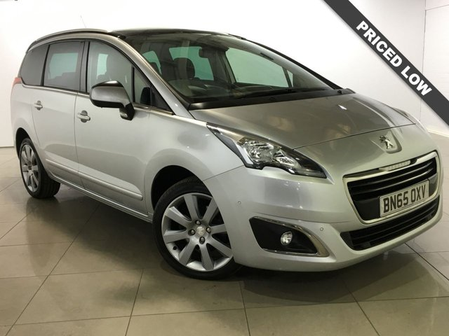 View our 2015 65 PEUGEOT 5008 1.6 BLUE HDI S/S ALLURE 5d 120 BHP