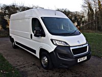 USED 2015 15 PEUGEOT BOXER 2.2 HDI 335 L3H2 P/V 1d 130 BHP LONG WHEEL BASE, FULL SERVICE HISTORY, JUST SERVICED NEW MOT,