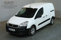 USED 2016 65 PEUGEOT PARTNER 1.6 HDI PROFESSIONAL 850 92 BHP SWB AIR CON AIR CONDITIONING FULL S/H