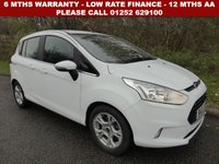 USED 2015 65 FORD B-MAX 1.4 ZETEC 5d 89 BHP All retail cars sold are fully prepared and include - Oil & filter service, 6 months warranty, minimum 6 months Mot, 12 months AA breakdown cover, HPI vehicle check assuring you that your new vehicle will have no registered accident claims reported, or any outstanding finance, Government VOSA Mot mileage check. Because we are an AA approved dealer, all our vehicles come with free AA breakdown cover and a free AA history check.. Low rate finance available. Up to 3 years warranty available.