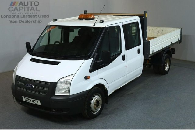 2013 13 FORD TRANSIT 2.2 350 124 BHP LWB D/CAB 6 SEATER COMBI TIPPER REAR BED LENGTH 9 FOOT 4 INCHES