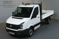 USED 2015 15 VOLKSWAGEN CRAFTER 2.0 CR35 TDI 109 BHP LWB S/CAB 3 SEATER TIPPER REAR BED LENGTH 11 FOOT 4 INCH