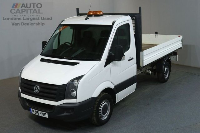 2015 15 VOLKSWAGEN CRAFTER 2.0 CR35 TDI 109 BHP LWB S/CAB 3 SEATER TIPPER REAR BED LENGTH 11 FOOT 4 INCH