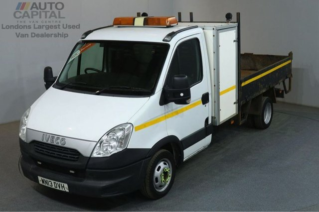 2013 13 IVECO DAILY 2.3 35C11 106 BHP MWB S/CAB TWIN WHEEL RWD TIPPER REAR BED LENGTH 9 FOOT 2 INCH