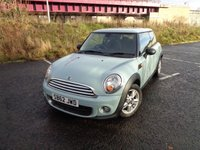 USED 2012 62 MINI HATCH ONE 1.6 ONE 3d 98 BHP 12 MONTH WARRANTY