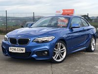 USED 2014 BMW 2 SERIES 2.0 DIESEL M SPORT COUPE ** SAT NAV // FRONT AND REAR PARKING SNSORS **