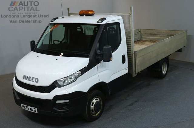 2015 65 IVECO DAILY 2.3 35C13 126 BHP EXTRA LWB TWIN WHEEL S/CAB DROPSIDE