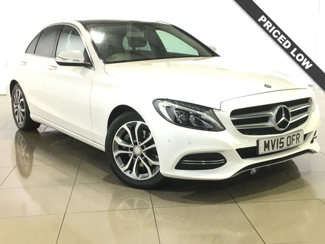 View our 2015 15 MERCEDES-BENZ C CLASS 2.1 C220 BLUETEC SPORT PREMIUM 4d AUTO 170 BHP