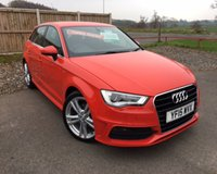 USED 2015 15 AUDI A3 2.0 TDI S LINE 5d 148 BHP VERY LOW MILEAGE CAR