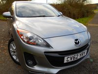 USED 2012 62 MAZDA 3 1.6 TAMURA 5d AUTO 103 BHP ** AUTOMATIC, YES ONLY 26,531 MILES FROM NEW , AIRCON, ALLOYS , SUPERB VEHICLE** ,