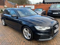 USED 2012 62 AUDI A6 2.0 AVANT TDI S LINE 5d 175 BHP HEATED BLACK LEATHER+BLUETOOTH