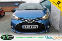 USED 2014 64 TOYOTA YARIS 1.3 VVT-I ICON 5d 99 BHP PETROL BLUE FULL SERVICE HISTORY + ONLY £30 PER YEAR TO TAX
