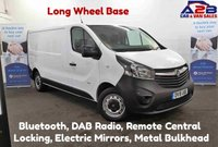 2015 VAUXHALL VIVARO 1.6 CDTi 2900 115 BHP, Long Wheel Base, Bluetooth, Ply Lined, DAB Radio, AUX £8480.00