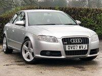 2007 AUDI A4 2.0 TDI S LINE TDV 4d 140 BHP £4850.00