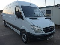 USED 2013 63 MERCEDES-BENZ SPRINTER 313 CDI LWB HI ROOF, 130 BHP [EURO 5], 1 COMPANY OWNER