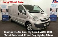 USED 2014 14 VAUXHALL VIVARO 2.0 CDTi 2900 SPORTIVE 115 BHP, Long Wheel Base with Bluetooth, Air Con, Rear Parking Sensors, Alloy Wheels, Alarm and more **Drive Away Today** Over The Phone Low Rate Finance Available, Just Call us on 01709 866668**