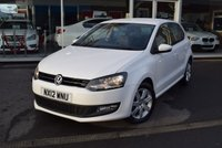 USED 2012 12 VOLKSWAGEN POLO 1.2 MATCH TDI 5d 74 BHP FINANCE TODAY WITH NO DEPOSIT