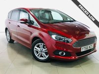 USED 2016 66 FORD S-MAX 2.0 TITANIUM TDCI 5d 148 BHP Sat Nav/Black Leather