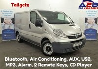 2013 VAUXHALL VIVARO 2.0 CDTi 2900 Ecoflex with Air Conditioning, Tailgate, Bluetooth, Ply Lined, AUX £5980.00