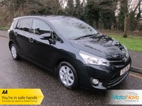 USED 2015 15 TOYOTA VERSO 1.8 VALVEMATIC ICON 5d AUTO 145 BHP Fantastic One Lady Owned Automatic Toyota Verso Petrol with Seven Seats, Climate Control, Cruise Control, Alloy Wheels and Toyota Service History