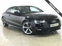 USED 2013 63 AUDI A5 2.0 TDI S LINE BLACK EDITION 2d AUTO 177 BHP Panoramic Roof/Sat Nav/Leather