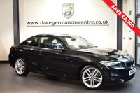 USED 2016 16 BMW 2 SERIES 2.0 218D M SPORT 2DR 148 BHP full service history *NO ADMIN FEES*FINISHED IN STUNNING SAPPHIRE METALLIC BLACK WITH ANTHRACITE UPHOLSTERY + SATELLITE NAVIGATION + BLUETOOTH + XENON LIGHTS + DAB RADIO + CRUISE CONTROL + RAIN SENSORS + PARKING SENSORS + 18 INCH ALLOY WHEELS