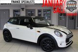 USED 2015 64 MINI HATCH COOPER 1.5 COOPER 3d AUTO 134 BHP full service history HALF CARBON BLACK LEATHER SEATS + FULL MINI SERVICE HISTORY + BLUETOOTH + PEPPER PACK 2 + £30 ROAD TAX + DAB RADIO + AUTOMATIC AIR CONDITIONING + 17 INCH ALLOYS